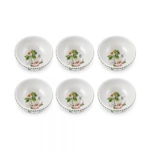Portmeirion Seconds Exotic Botanic Garden 5.5 Inch Fruit Salad Bowl Arborea Set of 6