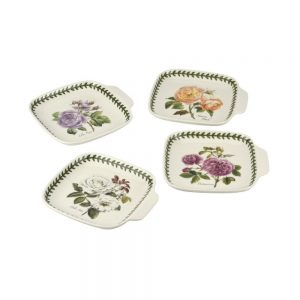 Portmeirion Botanic Roses Canape Dishes Set of 4