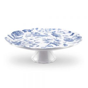 Portmeirion Botanic Blue Cake Stand and Cake Slice Set