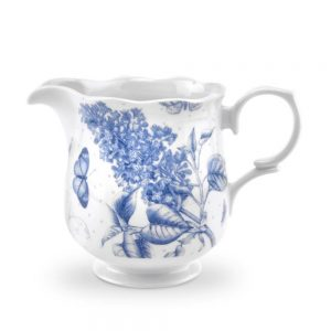 Portmeirion Botanic Blue Cream Jug and Covered Sugar Bowl