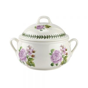 Portmeirion Botanic Roses Lilac Rose Covered Casserole 6pt