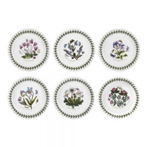 Portmeirion Seconds Botanic Garden 5 Inch Bread Plate Set of 6 (No Guarantee of Motif)