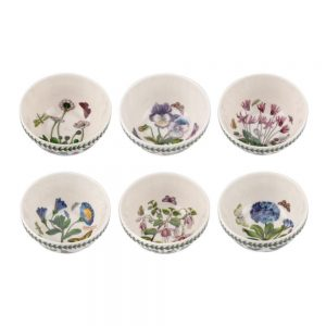 Portmeirion Seconds Botanic Garden 5.5 Inch Stacking Bowls Set of 6 (No guarantee of motifs)