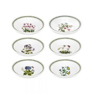 Portmeirion Seconds Botanic Garden 8 Inch Soup Plate Set of 6 (No Guarantee of Flower Designs)