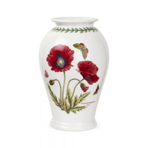 Portmeirion Seconds Botanic Garden Vase 10 Inch Poppy Canton