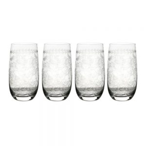 Portmeirion Botanic Garden Crystal High Ball Set of 4