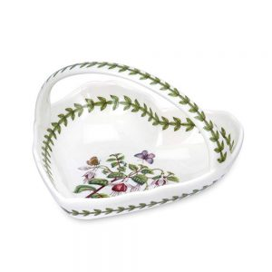 Portmeirion Seconds Botanic Garden Small Heart Shape Basket