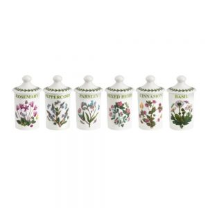 Portmeirion Botanic Garden Herb & Spice Jars Set of 6