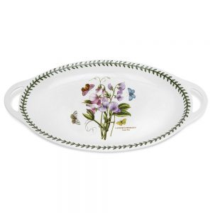 Portmeirion Botanic Garden 18 Inch Sweet Pea Oval Handled Serving Platter