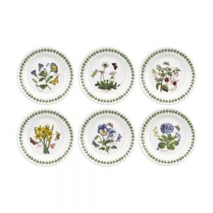 Portmeirion Seconds Botanic Garden 6.5 Inch Side Plates Set of 6 No Guarantee of Flower Motif