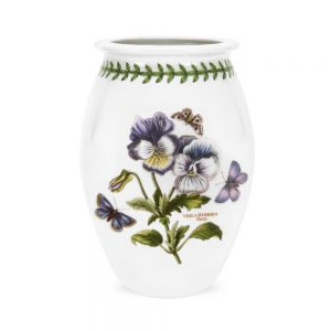 Portmeirion Seconds Botanic Garden Sovereign Vase Medium 6 Inch Pansy