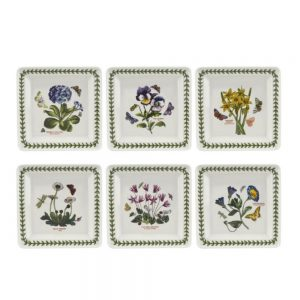 Portmeirion Botanic Garden 7 Inch Square Plate Set of 6