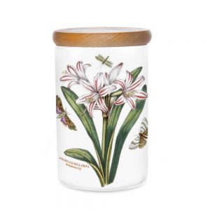 Portmeirion Seconds Botanic Garden Storage Jar 7 Inch Belladonna Lily