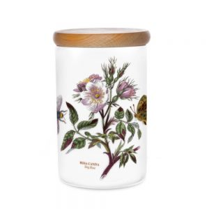 Portmeirion Seconds Botanic Garden Storage Jar 7 Inch Dog Rose
