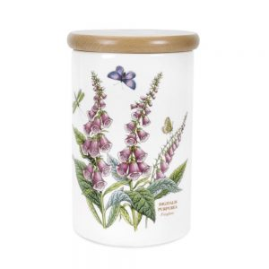Portmeirion Seconds Botanic Garden Storage Jar 8 Inch Foxglove