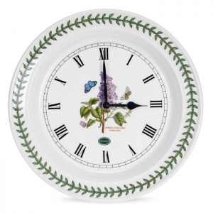 Portmeirion Seconds Botanic Garden Wall Clock Lilac