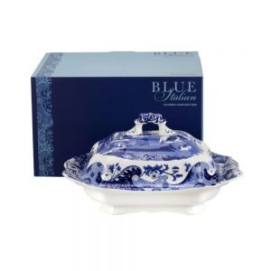 Spode Blue Italian Covered Vegetable Dish