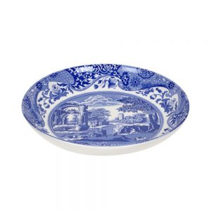 Spode Seconds Blue Italian Pasta Bowl 9 Inch Set of 6