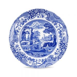 Spode Blue Italian 10 Inch Dinner Plate Set of 6 (Seconds)