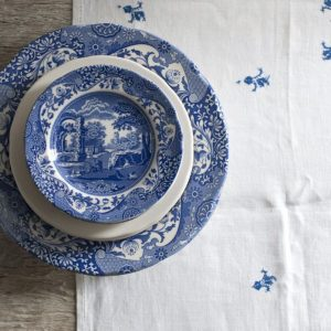 Spode Blue Italian Seconds 8 Inch Plate Set of 6 (Seconds)