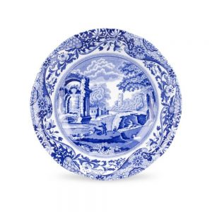 Spode  Blue Italian 9 Inch Plate Set of 6