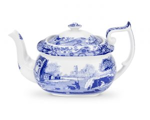 Spode Seconds Blue Italian Teapot