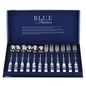 Spode Blue Italian Pastry Forks and Tea Spoons