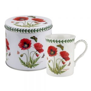 Portmeirion Botanic Garden Mug & Tin Set – Poppy