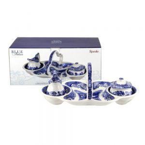 Spode Blue Italian 200th Anniversary 4 Piece Entertaining Set