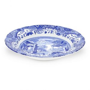 Spode Blue Italian Seconds 9 inch Soup Plate Set of 6 (Seconds)