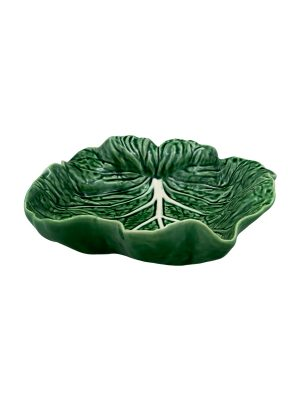 Bordallo Pinheiro Concave Leaf 26cm Cabbage Natural