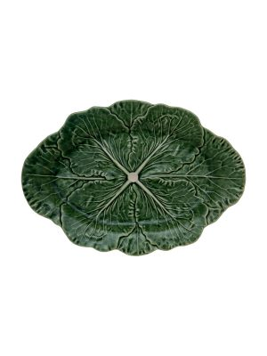 Bordallo Pinheiro Oval Platter 37.5 cm Cabbage Natural