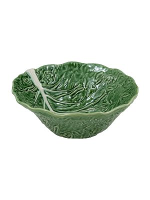 Bordallo Pinheiro Deep Salad Bowl 29cm Cabbage Natural